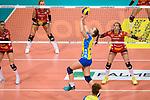 28.10.2018, TUI Arena, Hannover<br />Volleyball, Supercup, SSC Palmberg Schwerin vs. Dresdner SC<br /><br />Zuspiel Denise Hanke (#10 Schwerin)<br /><br />  Foto © nordphoto / Kurth