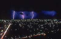 Lightining storm over Manila, Philippines
