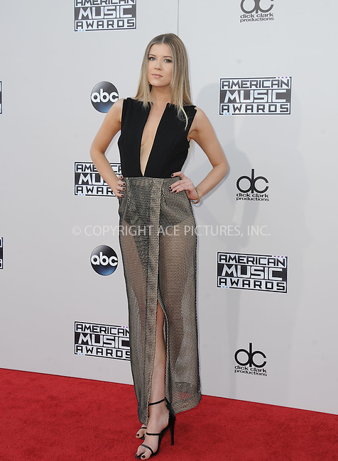 WWW.ACEPIXS.COM<br /> <br /> November 22 2015, LA<br /> <br /> Meghan Rienks arriving at the 2015 American Music Awards at the Microsoft Theater on November 22, 2015 in Los Angeles, California.<br /> <br /> By Line: Peter West/ACE Pictures<br /> <br /> <br /> ACE Pictures, Inc.<br /> tel: 646 769 0430<br /> Email: info@acepixs.com<br /> www.acepixs.com