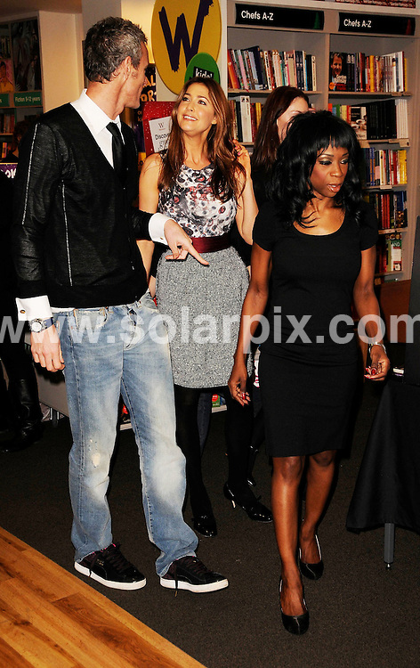 **ALL ROUND PICTURES FROM SOLARPIX.COM**.**WORLDWIDE SYNDICATION RIGHTS**.The Strictly come dancing TV crew Lisa Snowdon, Mark Foster and Heather Small promoting their new book at waterstones photocall in London today.This pic:Mark Foster and Lisda Snowdon,Heather Small..JOB REF:7878- MSR    DATE:13-11-08 .**MUST CREDIT SOLARPIX.COM OR DOUBLE FEE WILL BE CHARGED* *UNDER NO CIRCUMSTANCES IS THIS IMAGE TO BE REPRODUCED FOR ANY ONLINE EDITION WITHOUT PRIOR PERMISSION*