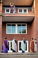 Classical Week 2016 Phaedra (Roman tragedy by Seneca) performance at the Zacharias Village Courtyard, presented by The Shakouls Honors College. <br />  (photo by Megan Bean / &copy; Mississippi State University)