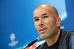 Real Madrid's coach Zinedine Zidane in press conference after training session. April 17,2017.(ALTERPHOTOS/Acero)