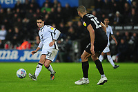 Yan Dhanda of Swansea City in action during the Sky Bet Championship match between Swansea City and Charlton Athletic at the Liberty Stadium in Swansea, Wales, UK.  Thursday 02 January 2020
