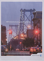 Print Advertisement highlighting AT&amp;T's support of community arts events in New York City, as seen in Time Out New York magazine, August 2011<br />