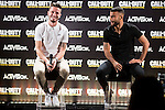 "Atletico de Madrid's Saul Ñiguez and FC Barcelona's Rafinha Alcantara during the presentation of the video game ""Call of Duty. Infinite Warfare"" in Madrid, Spain. December 15, 2016. (ALTERPHOTOS/BorjaB.Hojas)"