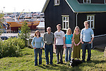 Thoroddson family at home in Hafnarfjordur, near Reykjavik, Iceland in May of 2004. A revisit, after the family was profiled in Material World in 1993. Family is in same order as the family portrait in Material World taken outside their home in December 1993. MODEL RELEASED..