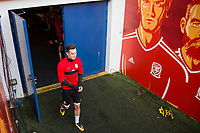 Tom Lawrence leaves the tunnel for Wales national team training ahead of the World Cup Qualification match against Republic of Ireland at Cardiff City Stadium, Cardiff, Wales on 8 October 2017. Photo by Mark  Hawkins.