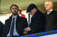 England national team manager Gareth Southgate & assistant Steve Holland during the Carabao Cup semi final 1st leg match between Chelsea and Arsenal at Stamford Bridge, London, England on 10 January 2018. Photo by Andy Rowland.