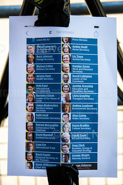 London, 19/07/2016. First Cabinet meeting at 10 Downing Street (after the EU Referendum and consequent David Cameron's resignation) for the new Prime Minister Theresa May and her newly formed Conservative Government.<br />