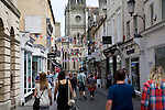 People shopping in Green Street, Bath, England