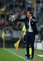 Calcio, Serie A: Juventus vs Fiorentina. Torino, Juventus Stadium, 20 agosto 2016.<br /> Juventus coach Massimiliano Allegri gestures during the Italian Serie A football match between Juventus and Fiorentina at Turin's Juventus Stadium, 20 August 2016.<br /> UPDATE IMAGES PRESS/Isabella Bonotto