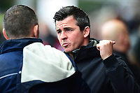 Fleetwood Town manager Joey Barton greets Shrewsbury Town manager John Askey <br /> <br /> Photographer Richard Martin-Roberts/CameraSport<br /> <br /> The EFL Sky Bet League One - Fleetwood Town v Shrewsbury Town - Saturday 13th October 2018 - Highbury Stadium - Fleetwood<br /> <br /> World Copyright &not;&copy; 2018 CameraSport. All rights reserved. 43 Linden Ave. Countesthorpe. Leicester. England. LE8 5PG - Tel: +44 (0) 116 277 4147 - admin@camerasport.com - www.camerasport.com