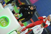 SCHAATSEN: GRONINGEN: Sportcentrum Kardinge, 18-01-2015, KPN NK Sprint, Podium 2e 1000m Heren, Hein Otterspeer, ©foto Martin de Jong