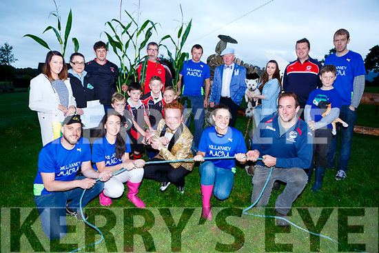 Launching the South Kerry Ploughing Championships which will be held in Flemings Farm Fossa on Sunday front row l-r: Theodore Katie O'Sullivan, Jack Healy, Catriona Shanahan, Pat Lucid. Middle row: Loughlin, Pierce and Andrew Leslie and Harry Murphy. Back row:  Eilish Cronin, Laura Wickham, Mark Leslie, Paul Murphy, David Horan, Seanie O'Donoghue, Kathleen Allen, Trevor Coffey, Edmond McSweeney