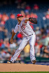 22 September 2018: Washington Nationals pitcher Austin Voth on the mound against the New York Mets at Nationals Park in Washington, DC. Voth recorded his first Major League career win as the Nationals shut out the Mets 6-0 in the 3rd game of their 4-game series. Mandatory Credit: Ed Wolfstein Photo *** RAW (NEF) Image File Available ***