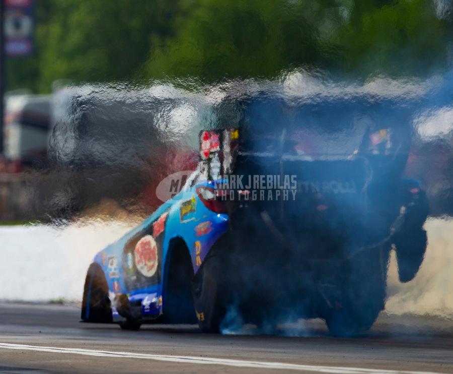 May 4, 2018; Commerce, GA, USA; NHRA funny car driver Jeff Diehl during qualifying for the Southern Nationals at Atlanta Dragway. Mandatory Credit: Mark J. Rebilas-USA TODAY Sports