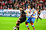 der Leverkusener Kevin Volland am Ball mit dem Mainzer Moussa Niakhate beim Spiel in der Fussball Bundesliga, 1. FSV Mainz 05 - Bayer 04 Leverkusen (dunkel).<br /> <br /> Foto &copy; PIX-Sportfotos *** Foto ist honorarpflichtig! *** Auf Anfrage in hoeherer Qualitaet/Aufloesung. Belegexemplar erbeten. Veroeffentlichung ausschliesslich fuer journalistisch-publizistische Zwecke. For editorial use only. DFL regulations prohibit any use of photographs as image sequences and/or quasi-video.