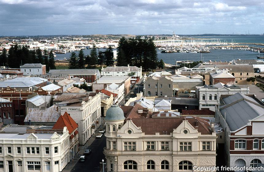Fremantle: skyline from Port Terminal. Photo '82.