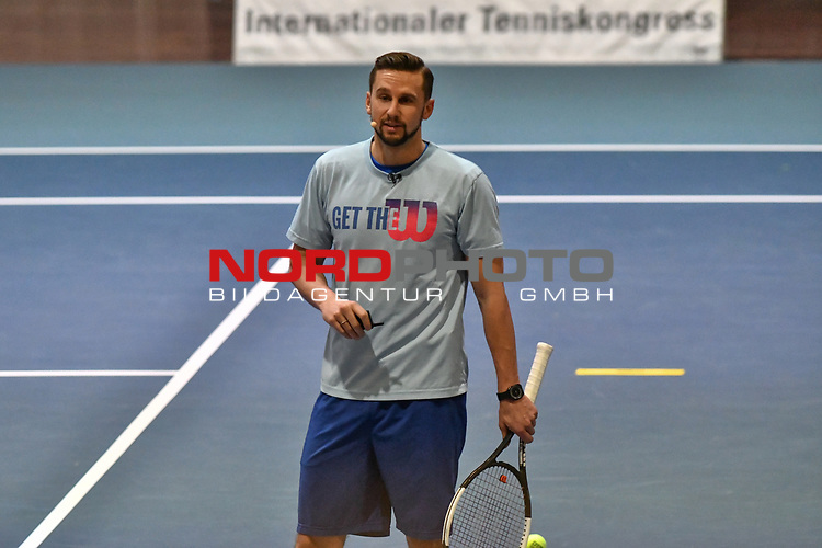 05.01.2018, Estrel Congress Center, Berlin, GER,  Internationaler DTB Tenniskongress 2019 <br /> <br /> im Bild Philipp Born spricht zur Trainingsspraxis / Update Training im Leistungstennis 2019<br /> <br /> Foto &copy; nordphoto/Mauelshagen