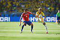 Mauricio Isla (CHI), Neymar (BRA), JUNE 28, 2014 - Football / Soccer : FIFA World Cup Brazil 2014 round of 16 match between Brazil and Chile at Estadio Mineirao in Belo Horizonte, Brazil. (Photo by FAR EAST PRESS/AFLO)