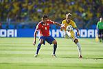 Mauricio Isla (CHI), Neymar (BRA), JUNE 28, 2014 - Football / Soccer : FIFA World Cup Brazil 2014 round of 16 match between Brazil and Chile at Estadio Mineirao in Belo Horizonte, Brazil. (Photo by FAR EAST PRESS/AFLO)