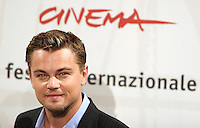 """Actor Leonardo di Caprio poses for photographers during the photocall for the film """"The Departed"""" at Rome's Auditorium for the first edition of Rome International Film Festival , October 15, 2006. <br /> L'attore Leonardo Di Caprio posa per i fotografi durante il photocall per il film """"The Departed"""", alla festa internazionale del cinema di Roma. <br /> Photo Samantha Zucchi Inside (www.insidefoto.com)"""