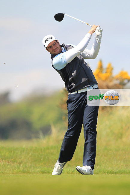 Sam Whitaker (ENG) on the 8th tee during Round 4 of the Flogas Irish Amateur Open Championship at Royal Dublin on Sunday 8th May 2016.<br /> Picture:  Golffile / Thos Caffrey