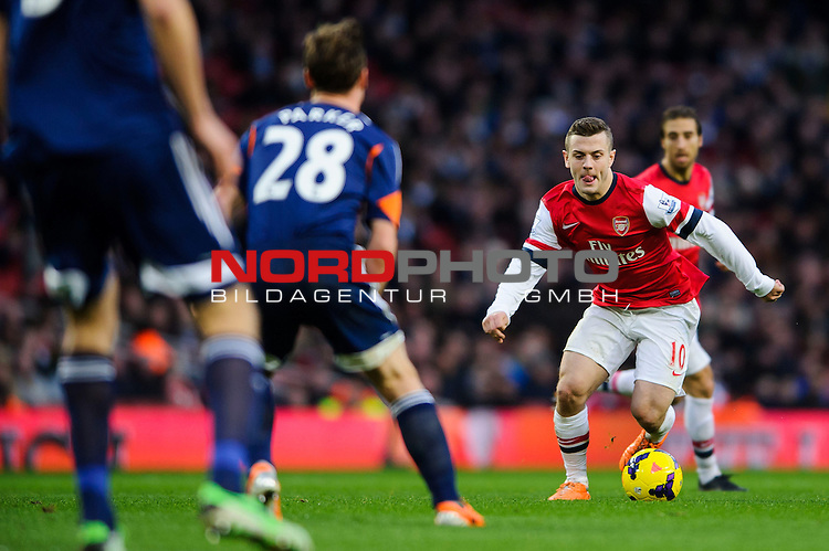 Arsenal Midfielder Jack Wilshere (ENG) in action during the match -  - 18/01/14 - SPORT - FOOTBALL - Emirates Stadium - Arsenal v Fulham - Barclays Premier League.<br /> Foto nph / Meredith<br /> <br /> ***** OUT OF UK *****
