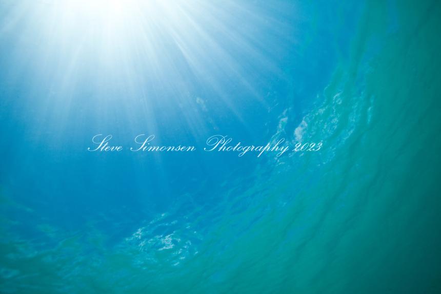 Water and sun's rays<br /> Maho Bay<br /> Virgin Islands National Park<br /> St. John, U.S. Virgin Islands