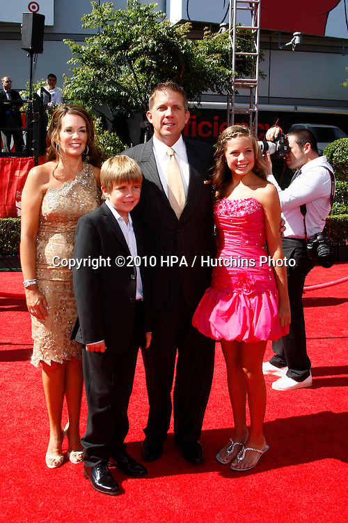 LOS ANGELES - JUL 14:  Sean Payton arrives at the 2010 ESPY Awards at Nokia Theater - LA Live on July14, 2010 in Los Angeles, CA ....