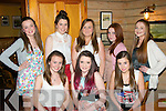 TEEN PARTY: Amy Carmody, Connolly Pk, Tralee (seated centre) got together with friends in Stokers Lodge, Tralee for her 14th birthday (seated) l-r: Laura Courtney, Amy Carmody and Ciara Jeffers. Back l-r: Kimberly Harris, Sarah Falvey, Chloe Smith, Ciara O'Mahony with Sinead Shanahan.