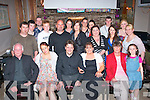 4724-4727.---------.40,no way.---------.Annette Hennessy,Mountain Close,Tralee(seated 2nd from the Rt)celebrated her 40th birthday last Friday night in Kirby's Brogue Inn,Tralee,also saeted were L-R PJ&Rachael Hennessy,Pat Hurley,Annette,Molly&Natalie Hennessy(Back)L-R PJ Hennessy Jnr,Adam Hennessy,Martin Hurley,John Hennessy Jnr&Snr,Linda Dennehy,Caroline,Vanessa&Simone Hennessy,Jacinta O'Halloran,Tony Laws,Rebbeca Hennessy,Nadine Sheehy and Sarah Lallon.
