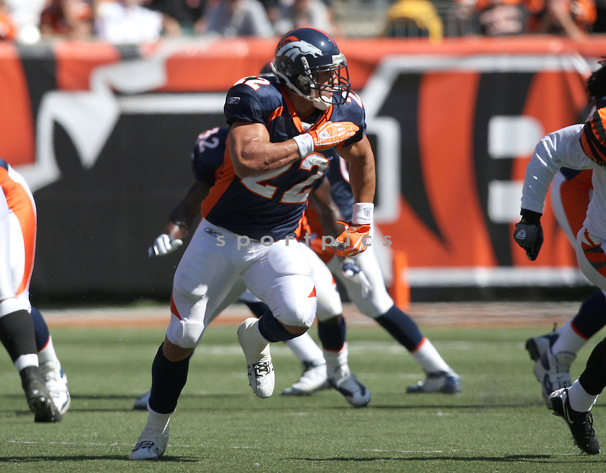 PEYTON HILLIS,of the Denver Broncos , in actions during the Broncos  game against the Cincinnati Bengals  on September 13, 2009 in Cincinnati, OH  The Broncos beat the Bengals 12-7.