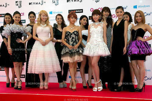 E-girls, June 14, 2014 : MTV VMAJ (Video Music Awards Japan 2014 at Maihama Amphitheater in Chiba, Japan. (Photo by Rodrigo Reyes Marin/AFLO)