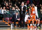 S&ouml;dert&auml;lje 2015-02-07 Basket Basketligan S&ouml;dert&auml;lje Kings - Bor&aring;s Basket :  <br /> Bor&aring;s head coach Patrick Pat Ryan reagerar under matchen mellan S&ouml;dert&auml;lje Kings och Bor&aring;s Basket <br /> (Foto: Kenta J&ouml;nsson) Nyckelord:  S&ouml;dert&auml;lje Kings SBBK T&auml;ljehallen Bor&aring;s Basket tr&auml;nare manager coach portr&auml;tt portrait