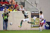 Lovel Palmer (30) of the Portland Timbers. The New York Red Bulls defeated the Portland Timbers 2-0 during a Major League Soccer (MLS) match at Red Bull Arena in Harrison, NJ, on September 24, 2011.