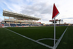 20 October 2012: A wide view of Toyota Park from the southeast corner. The United States Women's National Team played the Germany Women's National Team at Toyota Park in Bridgeview, Illinois in a women's international friendly soccer match. The game ended in a 1-1 tie.