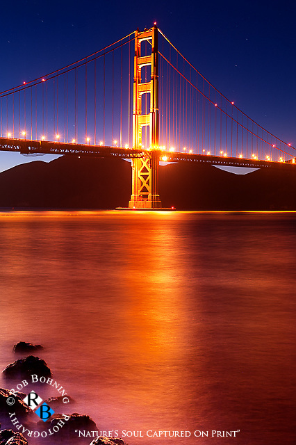 A vivid portrait of the North Tower of the Golden Gate Bridge from Chrissy Field