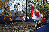 Morning of November 15, 2011, the Occupy Toronto Protest Tent Camp at St. James Park, one month in.  This morning the protesters were served eviction notices requiring them to vacate the park by 12:01am November 16, 2011.