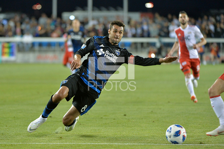 San Jose, CA - Wednesday June 13, 2018: Chris Wondolowski during a Major League Soccer (MLS) match between the San Jose Earthquakes and the New England Revolution at Avaya Stadium.