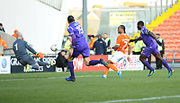 Blackpool's Nathan Delfouneso scores his side's third goal <br /> <br /> Photographer Kevin Barnes/CameraSport<br /> <br /> Emirates FA Cup Second Round - Blackpool v Maidstone United - Sunday 1st December 2019 - Bloomfield Road - Blackpool<br />  <br /> World Copyright © 2019 CameraSport. All rights reserved. 43 Linden Ave. Countesthorpe. Leicester. England. LE8 5PG - Tel: +44 (0) 116 277 4147 - admin@camerasport.com - www.camerasport.com