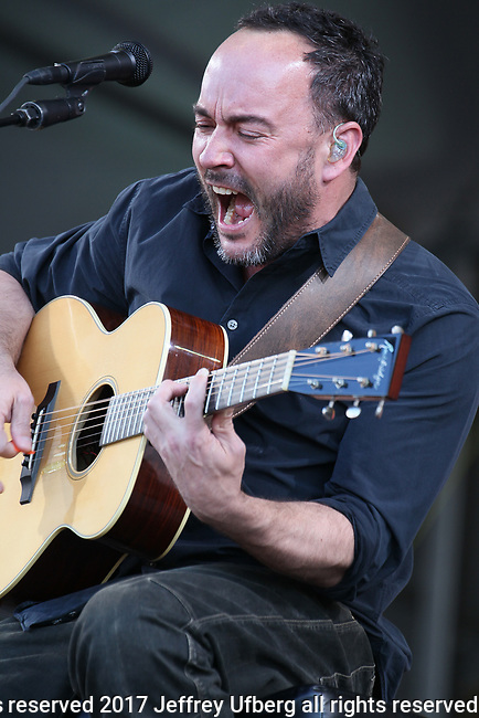May 5, 2017 New Orleans, La: Singer/Musician Dave Matthews performs at the New Orleans Jazz & Heritage Festival on May 5, 2017 in New Orleans, La