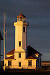Port Townsend, Point Wilson lighthouse, Fort Worden State Park, Puget Sound, Washington State, State Park, Pacific Northwest,