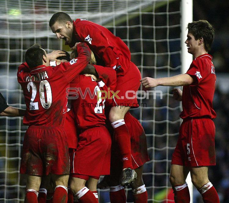 Pix, Shaun Flannery/SWpix. Barclaycard Premiership..Leeds United v Middlesborough, 31/1/2004..COPYRIGHT PICTURE>>SIMON WILKINSON>>01943 - 436649>>..Middlesborough celebrate Joseph - Desire Job's goal.