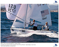 Hyeres, France, 20130424: ISAF SAILING WORLD CUP - approx 900 sailors compete in all the Olympic boat classes at the last event on the 2012/2013 World Cup. 470 W - USA - Sydney Bolger / Sarah Lihan. Photo: Mick Anderson/SAILINGPIX..Note: High-res TIFFs availble upon request.