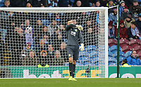 Burnley's Nick Pope reacts after he was beaten at his near post for the opening goal by Crystal Palace's Wilfried Zaha's (not pictured) <br /> <br /> Photographer Rich Linley/CameraSport<br /> <br /> The Premier League - Burnley v Crystal Palace - Saturday 30th November 2019 - Turf Moor - Burnley<br /> <br /> World Copyright © 2019 CameraSport. All rights reserved. 43 Linden Ave. Countesthorpe. Leicester. England. LE8 5PG - Tel: +44 (0) 116 277 4147 - admin@camerasport.com - www.camerasport.com