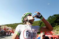 Koen De Kort  hydrated after the stage of La Vuelta 2012 between Barakaldo and Valdezcaray.August 21,2012. (ALTERPHOTOS/Acero) /NortePhoto.com