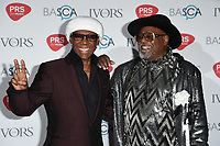 Nile Rodgers and George Clinton<br /> at The Ivor Novello Awards 2017, Grosvenor House Hotel, London. <br /> <br /> <br /> ©Ash Knotek  D3267  18/05/2017