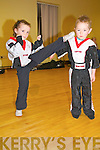 Listowel Korean Kickboxing Club members Latisha Shine & Dean Horgan-Slemon in action.