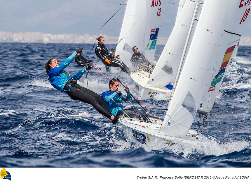 47 Trofeo Princesa Sofia IBEROSTAR, bay of Palma, Mallorca, Spain, takes<br /> place from 25th March to 2nd April 2016. Qualifier event for the Rio 2016<br /> Olympic Games. Almost 800 boats and over 1.000 sailors from to 65 nations<br /> ©Jesus Renedo/Sofia